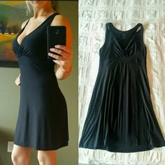 *Sexy Versatile Little Black Dress and Sleepwear!* **Size Small** Stretchy, Sleek fabric make this dress perfect for either cuddling up under the covers or going out for a night on the town! Pairs beautifully with a Jean Jacket for a more casual look. *Thanks for looking!* Gilligan & O'Malley Dresses Mini
