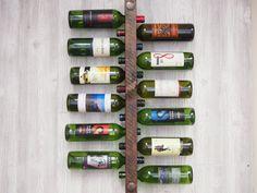 Botella de vino Rack 8 rústica escalera por VetrinaDelVino en Etsy
