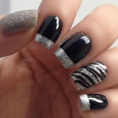 8 Black White and Silver Nail Designs 2016