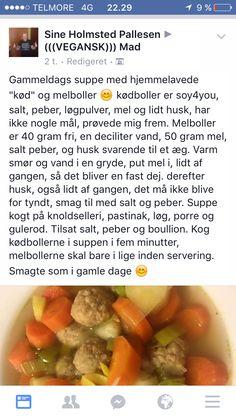 Veganske kød- og melboller til suppe