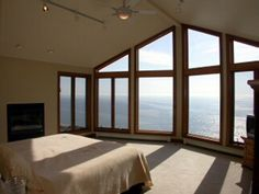 This is a master bedroom in Milwaukee, overlooking Lake Michigan. Dream Master Bedroom, Master Bedrooms, Lake Michigan, My Dream Home, Milwaukee, Future House, Speak Life, Windows, Shop Ideas
