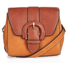 Women's Topshop Vinny Faux Leather Saddle Bag ($40) ❤ liked on Polyvore featuring bags, handbags, shoulder bags, tan, vegan shoulder bags, crossbody saddle bag purse, crossbody handbags, brown handbags and faux leather crossbody