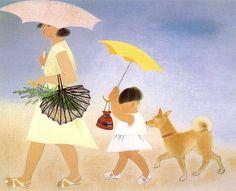 Yuki Ogura 小倉遊亀(おぐら ゆき、1895年-2000年)title「Komichi径(こみち)」1966