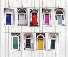 Dublin's Doors Photography: Set of 9 photo, The colors of the dublin's door! Home decor, wall art on Etsy, CHF38.44