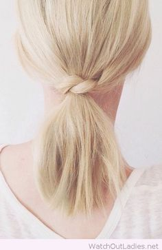 Short hair ponytail inspiration