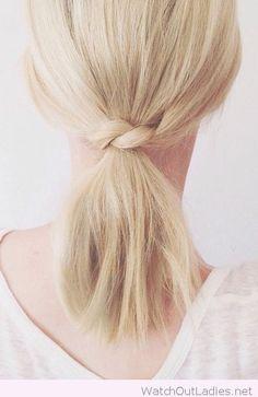 Short hair ponytail inspiration