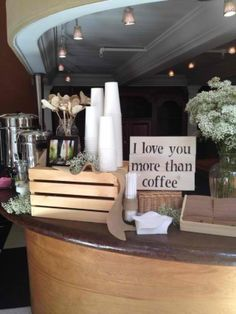 The coffee bar at our wedding :)