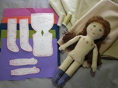 Make a Prairie Flower Cloth Doll Tutorial
