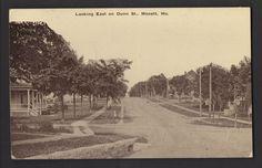 Looking East on DUNN STREET MONETT MISSOURI 1916 Published by J.W. Sanders 5&10