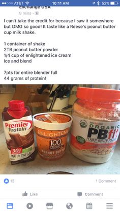 Weight Watchers Smoothies Protein Shakes Low Carb New Ideas Weight Watcher Desserts, Weight Watchers Smoothies, Weight Watchers Breakfast, Weight Watchers Meals, Protein Smoothies, Healthy Protein Snacks, Protein Foods, Healthy Drinks, Pb2 Smoothie