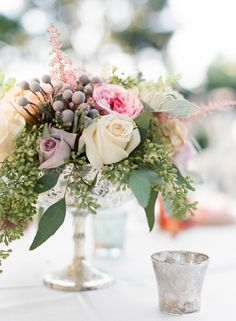 Silver and Green Centerpiece | photography by http://valentinaglidden.com/