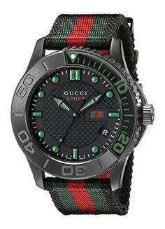 13bfcc067cf Gucci Men s YA126229 G-Timeless Black Stainless Steel Wat... http