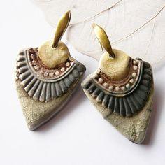 Boucles d'oreille raku Isis céramique