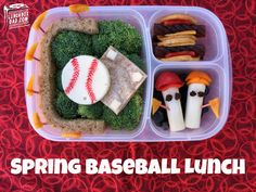 Spring Baseball Lunch packed in @EasyLunchboxes container
