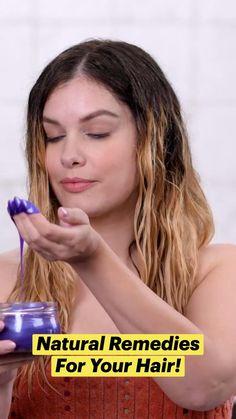 Home Remedies For Hair, Hair Remedies, Natural Remedies, Beauty Tips For Hair, Beauty Hacks, Natural Hair Growth, Natural Hair Styles, Hair Tutorials For Medium Hair, Hair Repair