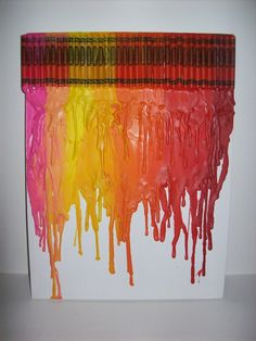 My first ever attempt at crayon art.