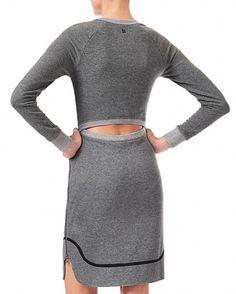 Sweaty Betty - Quente Luxe Sweat Dress - grey