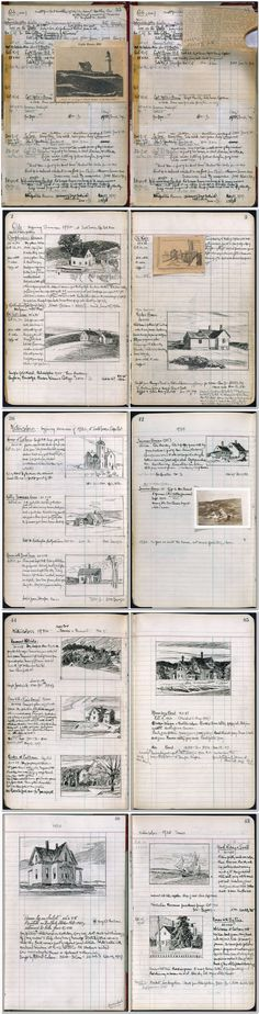 Edward Hopper's sketchbook