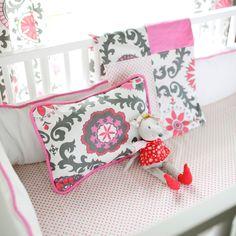 New Arrivals Crib Bedding Ragamuffin Pink @Layla Grayce