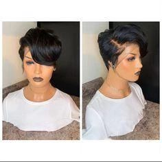 Short Pixie Haircuts, Pixie Hairstyles, Short Hair Cuts, Straight Hairstyles, Short Hair Styles, Black Hairstyles, Curly Pixie, Pixie Cuts, Pixie Cut Wig