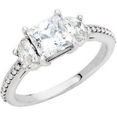 Three-Stone Engagement Ring #Jewelry #Diamonds #Wedding #Love #Delco