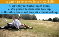Listening game for adults