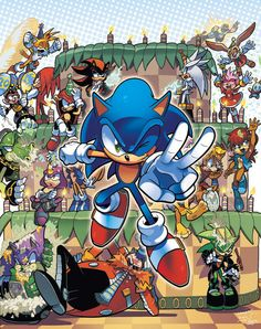 Original cover art for Sonic Super Special Magazine #7 The final cover had been altered drastically and this version was used for advertisements instead.