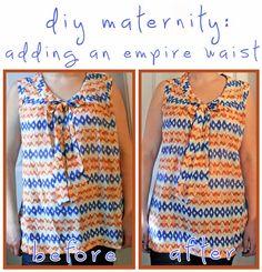 DIY Maternity: Adding An Empire Waist | Hellobee