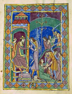 The Massacre of the Innocents- St. Alban's Psalter, 12th century
