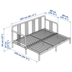 Use the daybed as a freestanding chaise, a single bed or lift and pull out the extra bed base to create a double bed. Extra Storage Space, Under Bed Storage, Storage Spaces, Large Cushion Covers, Large Cushions, Lit Banquette 2 Places, Chaise Longue Diy, Day Bed Frame, Futon Frame