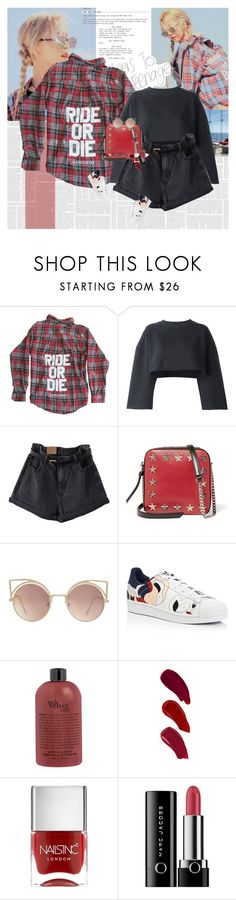 """""""Ride or Die"""" by e-laysian ❤ liked on Polyvore featuring adidas Originals, Jimmy Choo, MANGO, adidas, Ellis Faas and Marc Jacobs"""