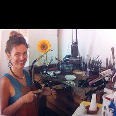 Great jewellery making / silversmithing studio bench set up .. (Christine Dhein of San Fran)