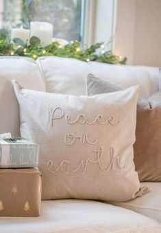 Holiday Housewalk 2020 - Saw Nail and Paint Twinkle Lights, Twinkle Twinkle, Cottage Style Homes, Christmas Decorations, Holiday Decor, Neutral, Throw Pillows, Nail, Painting