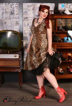 Kelly Dress - Gold Leopard