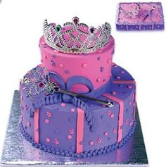 Princess stacked cake