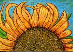 Sunflower by Jeanne Souldern. Watercolor on paper. 2011.