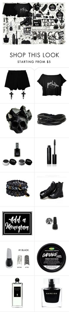 """""""Panic! At The Polyvore"""" by yellowpika-san ❤ liked on Polyvore featuring Chicnova Fashion, Macabre Gadgets, Gioelli Designs, FACE Stockholm, Bobbi Brown Cosmetics, Sunsteps, Color Me, Serge Lutens and Narciso Rodriguez"""