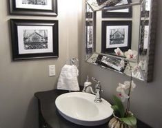Silver bathroom paint. Wow! Just look at those reflections in the mirror and its beveled edge!  For some outre ideas on decorating your bathroom with the right colors, see http://www.bathroom-paint.net/bathroom-paint-color.php