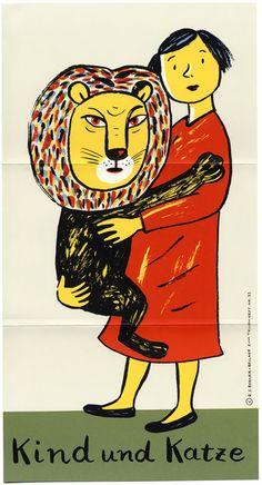"""kidpix: """"Das Kind und die Katze"""" текст: Ingrid Bacher, илл.: Rotraut Susanne Berner"""