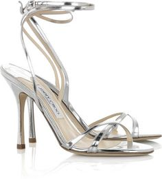 #ShopStyle: #JimmyChoo Suave mirrored-leather sandals