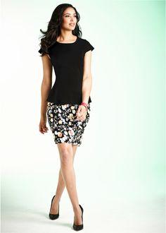 Blusa com peplum preto encomendar agora na loja on-line bonprix.com.br  R$ 79,90 a partir de Superfeminino! Blusa com peplum com corte sofisticado, garante ...
