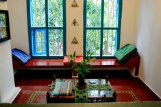 Traditional Indian homes are typically decorated in rich colors, and intricate patterns. You will also find exotic textiles, and embroidered tapestry around the home. My favorite is a wooden swing which magically hangs in the living room. Decor, Exterior House Siding, House Design, Traditional House, Indian Living Rooms, Indian Homes, Indian Home Interior, House Painting, House Paint Exterior