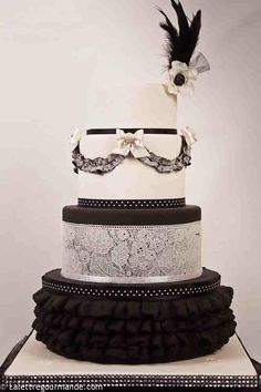beautiful #black #cake