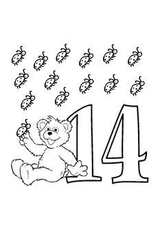 A colorier, les 14 petites coccinelles du petit ourson