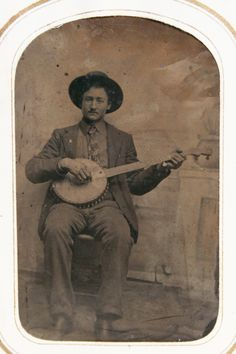 Cabinet photo of Banjo player century American Photographs Of People, Vintage Photographs, Band Pictures, Banjos, Music Images, The Good Old Days, The Conjuring, Country Music, Old Photos
