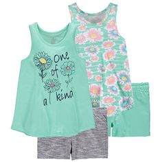 chinatera Baby Girls Vintage Floral Print Top+Shorts Two-Pieces Swimwear Outfit Sets Summer