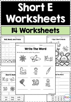 Vocabulary Activities, Reading Activities, Guided Reading, Kindergarten Activities, Literacy Stations, Literacy Centers, Short E Words, Teaching First Grade, Reading Centers