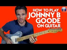 How to Play Johnny B Goode on Guitar - Chuck Berry Guitar Lesson Music Theory Guitar, Guitar Chords For Songs, Acoustic Guitar Lessons, Music Guitar, Playing Guitar, Guitar Tips, Ukulele Tabs, Blues Guitar Lessons, Basic Guitar Lessons
