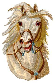HorseHead-Vintage-GraphicsFairy.jpg 1,005×1,500 pixels