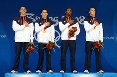 400 Free Relay. 2008 Olympics. (M. Phelps-47.51, G. Weber-Gale-47.02,    C. Jones-47.65, J. Lezak-46.06) World Record: 308.24  46.06!!!!!!!!